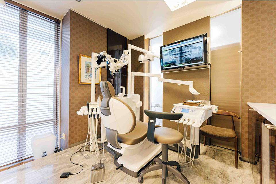 バリアフリーの個室診療室